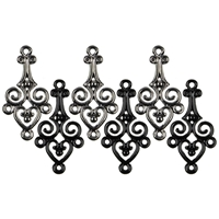 Εικόνα του Jewelry Basics Metal Charms - Gunmetal & Black Filigree