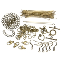 Εικόνα του Jewelry Basics Metal Findings - Antique Gold Starter Pack