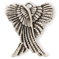 Εικόνα του Steampunk Metal Pendant - Crossed Wings