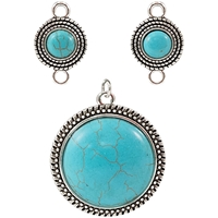 Εικόνα του Tim Holtz Assemblage Charms - Turquoise Medallions
