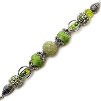 Εικόνα του Design Elements Glass Bead Strands - Greenery #2