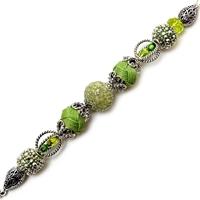 Εικόνα του Design Elements Glass Bead Strands - Greenery #2