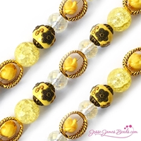 Εικόνα του Design Elements Glass Bead Strands - Primrose Yellow #1