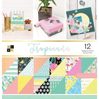"""Picture of DCWV Double-Sided Cardstock Stack 12""""X12"""" - Tropicana"""
