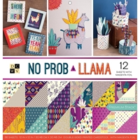 """Picture of DCWV Double-Sided Cardstock Stack 12""""X12"""" - No Prob Llama"""