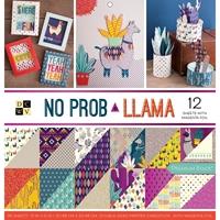 """Εικόνα του DCWV Μπλοκ Scrapbooking 12""""X12"""" - No Prob Llama"""