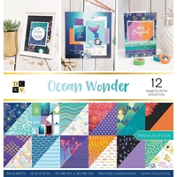 """Picture of DCWV Double-Sided Cardstock Stack 12""""X12"""" - Ocean Wonder"""