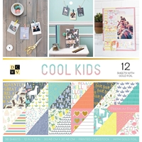 """Picture of DCWV Double-Sided Cardstock Stack 12""""X12"""" - Cool Kids"""