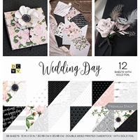 """Picture of DCWV Double-Sided Cardstock Stack 12""""X12"""" - Wedding Day"""