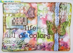 Art Journal Spread από την Ιουλία Δεληγιαννίδου