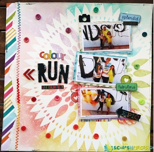 Color Run - Step by Step Lay out