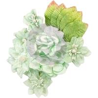 Εικόνα του Υφασμάτινα Λουλούδια Santa Baby - Frosted Mint