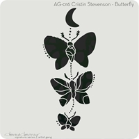 """Εικόνα του Donna Downey Artist Gang Stencils 8""""X8"""" - Butterfly"""
