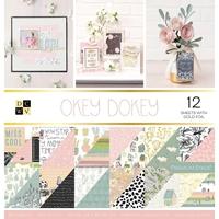 """Εικόνα του DCWV Double-Sided Paper Stack 12""""X12""""  - Okey Dokey"""