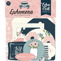 Εικόνα του Echo Park Carina Gardner Just Married Ephemera Cardstock Die-Cuts