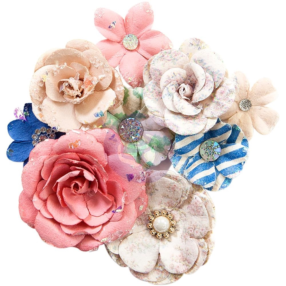 Santorini Mulberry Paper Flowers Fira Scrapsnpieces Scrapbooking