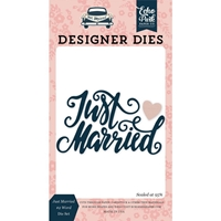 Εικόνα του Ατσάλινο Echo Park Die Just Married - Word Die Set