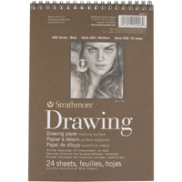 Εικόνα του Strathmore Drawing Spiral Paper Pad 6''x8'' - Medium Surface