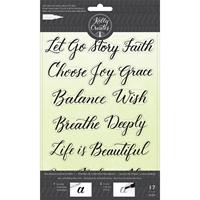 Εικόνα του Σετ Σφραγίδων Kelly Creates Acrylic Traceable Stamps - Quotes 1