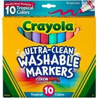 Εικόνα του Πλενόμενοι μαρκαδόροι - Crayola Broad Line Washable Markers - Tropical
