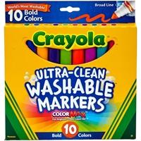 Εικόνα του Πλενόμενοι μαρκαδόροι Crayola Broad Line Washable Markers - Bold