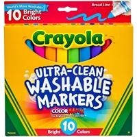 Εικόνα του Πλενόμενοι μαρκαδόροι Crayola Broad Line Washable Markers - Bright