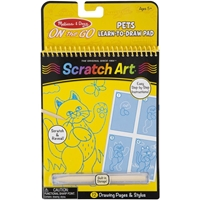 Εικόνα του Melissa & Doug On The Go Scratch Art Color Reveal Pads - Learn to Draw Pad Pets