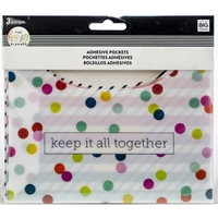 Εικόνα του Happy Planner Big/Medium Αυτοκόλλητες Τσέπες - Multi Dot