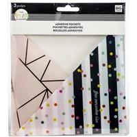 Εικόνα του Happy Planner Big/Medium Αυτοκόλλητες Τσέπες - Rainbow