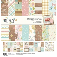 "Εικόνα του Simple Stories Collection Kit 12""X12"" - Oh Baby!"
