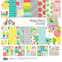 "Εικόνα του Simple Stories Collection Kit 12""X12"" - Hello Summer"