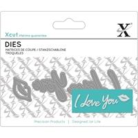 Εικόνα του Μήτρες Κοπής Xcut Mini Decorative Dies - I Love You