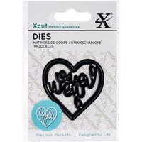 Εικόνα του Μήτρες Κοπής Xcut Mini Decorative Dies - Love You Heart