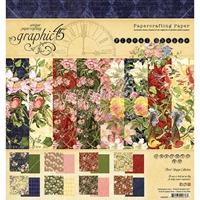 "Picture of Graphic 45 Double-Sided Paper Pad 8""X8"" - Floral Shoppe"