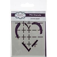 Εικόνα του Creative Expressions Mini Stencil - Etched Hearts