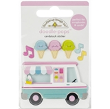 Picture of Doodlebug Doodle-Pops 3D Stickers - Ice Cream Truck