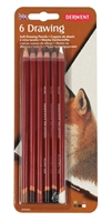 Εικόνα του Derwent 6 Drawing Pencils - Classic Assortment