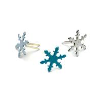 Εικόνα του Painted Metal Paper Fasteners - Snowflakes