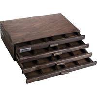 Εικόνα του Ξύλινο Κουτι Αποθήκευσης 4 Συρτάρια - Espresso