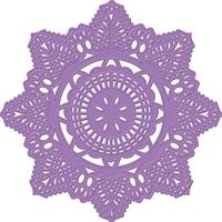 Εικόνα του Purple Metal Die - Crochet Doily