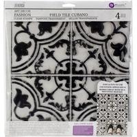 Εικόνα του Iron Orchid Designs Decor Clear Stamps  - Field Tile Cubano