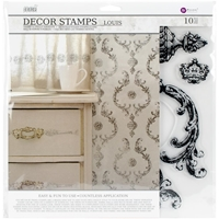 Εικόνα του Iron Orchid Designs Decor Clear Stamps  - Louis