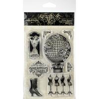 Εικόνα του Graphic 45 Clear Acrylic Stamps - Imagine Create Yourself