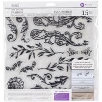 Εικόνα του Iron Orchid Designs Decor Clear Stamps - Flourished