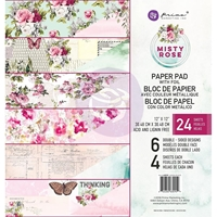 "Εικόνα του Prima Marketing Double-Sided Paper Pad 12""X12"" - Misty Rose"