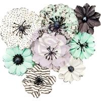 Εικόνα του Flirty Fleur Mulberry Paper Flowers - Grey & Mint