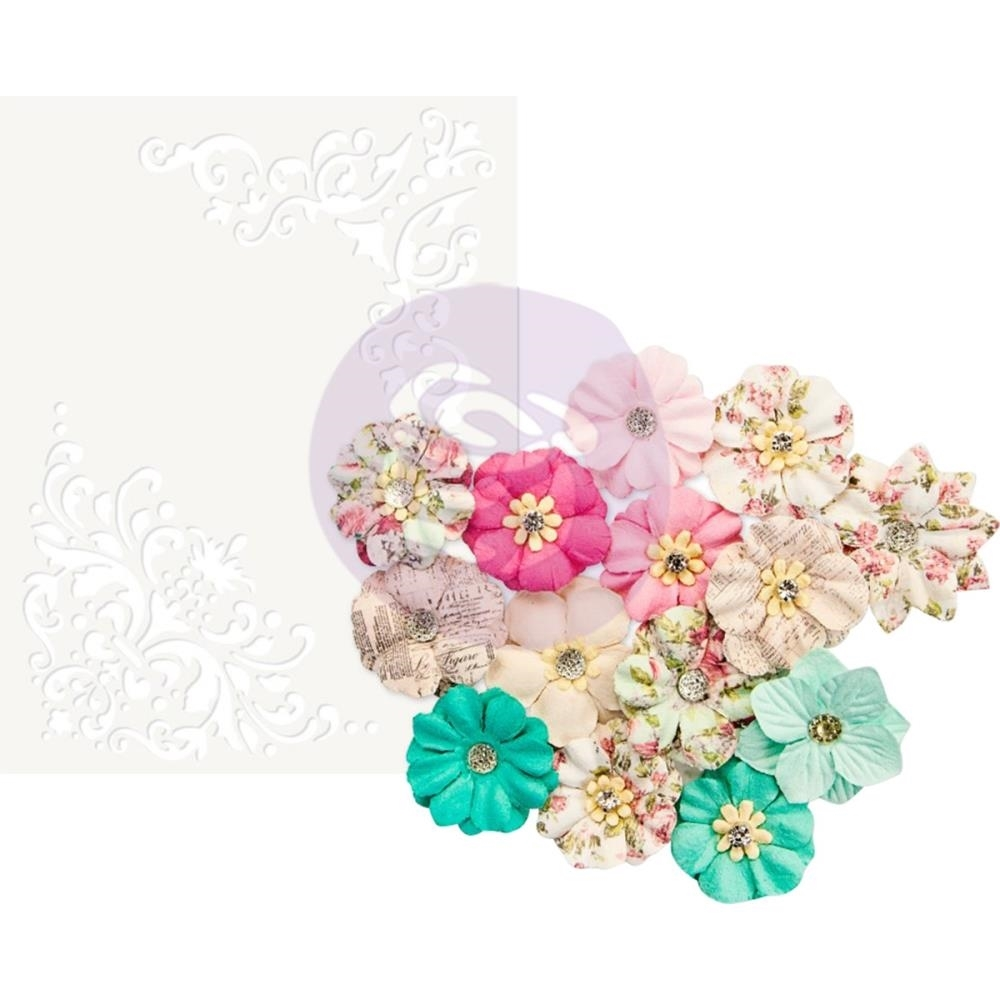 Misty Rose Mulberry Paper Flowers Ashby Scrapsnpieces