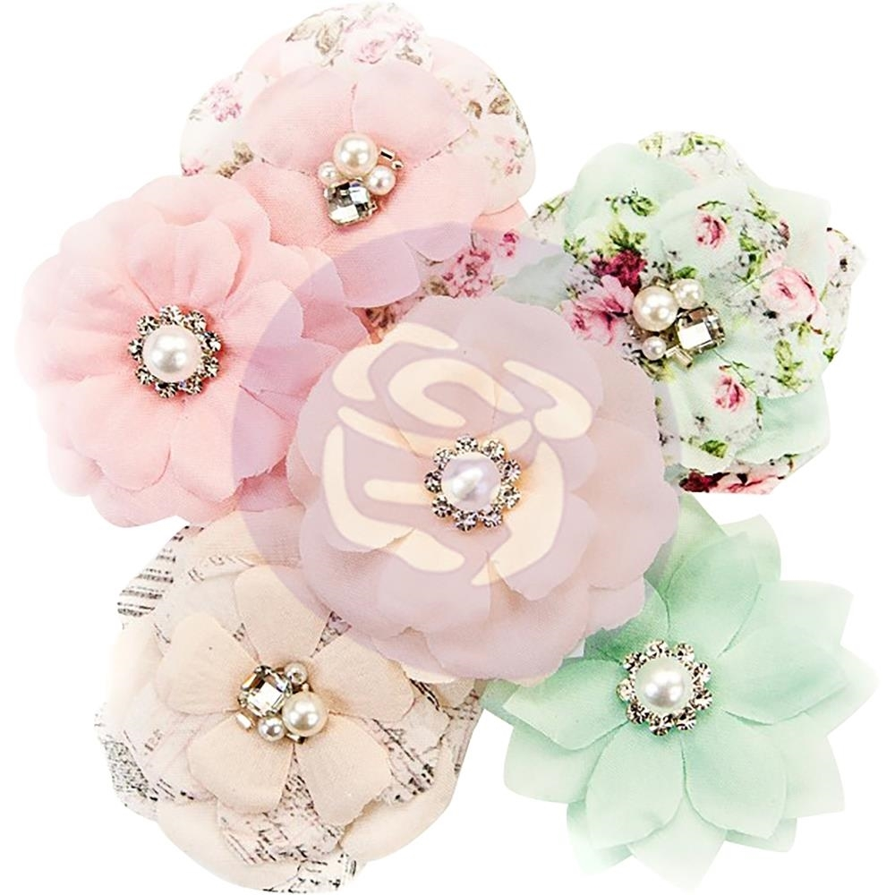 Misty Rose Mulberry Paper Flowers Addison Scrapsnpieces