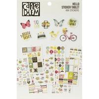 Εικόνα του Carpe Diem A5 Planner Sticker Tablet - Hello