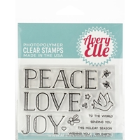 Εικόνα του Avery Elle Clear Stamp Set - Sending Peace